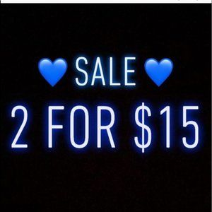 CHECK OUT all the 2/$15💙's in Home, Women & Men!!